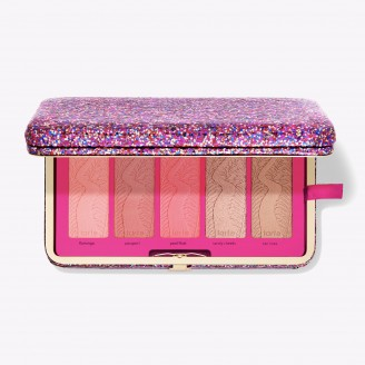 Палетка румян и контуринг в клатче Tarte Life Of The Party Clay Blush Palette & Clutch